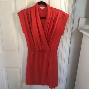 Bar III Orange Wrap Dress